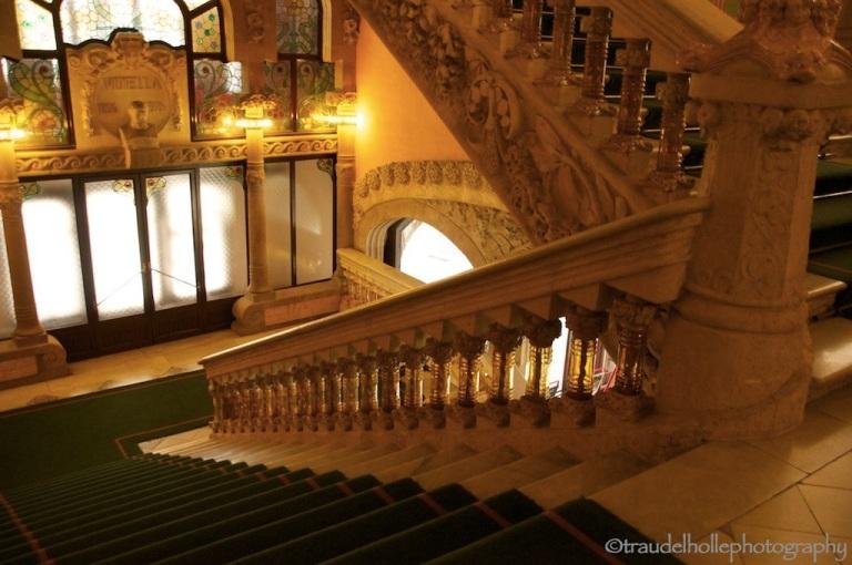 stairs in Palau del a Musica de Catalana in Barcelona